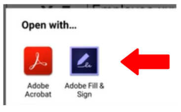Android Adobe Fill and Sign